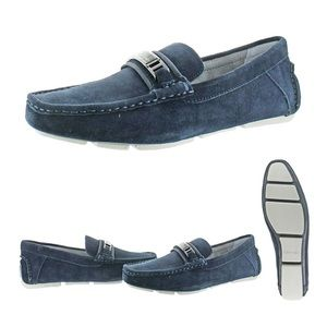 Calvin Klein Mens Blue Suede Loafers